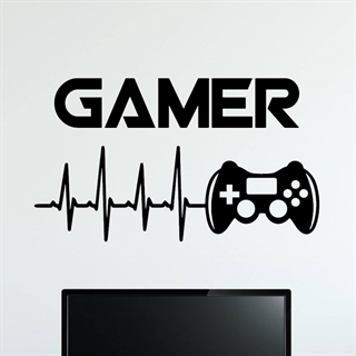 Gamer Joystick  3 - Wallstickers