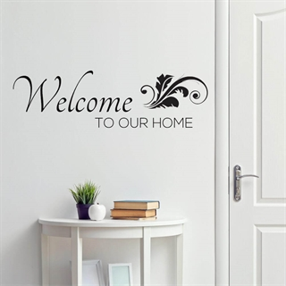 Welcome to our home  1 - Wallstickers