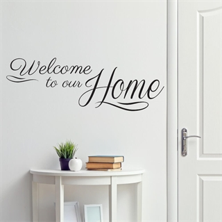 Welcome to our home  2 - Wallstickers