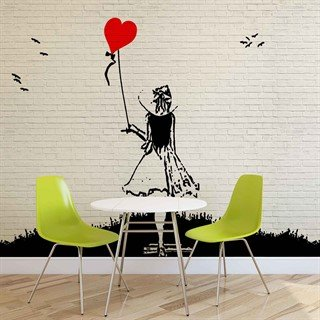 Fototapet-brick-wall-heart-balloon-girl-graffiti--väggmålning-1978wm-graffiti