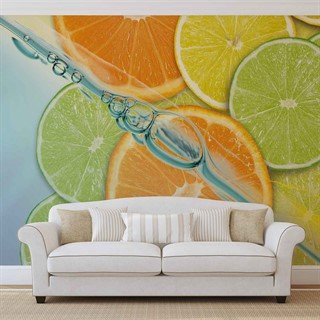 Fototapet-food-fruits-lime-orange-lemon-väggmålning-110wm-food-and-drink