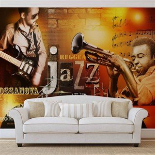 Fototapet-jazz-retro-music-blues-väggmålning-060wm-people-and-music