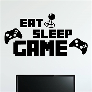 EAT SLEEP GAME  1 - Wallstickers