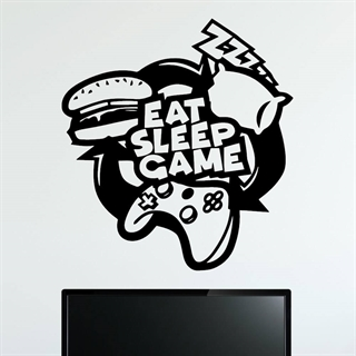 EAT SLEEP GAME  2 - Wallstickers