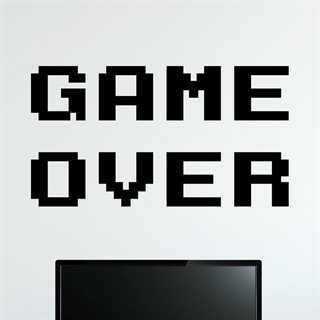 Game over - Wallstickers