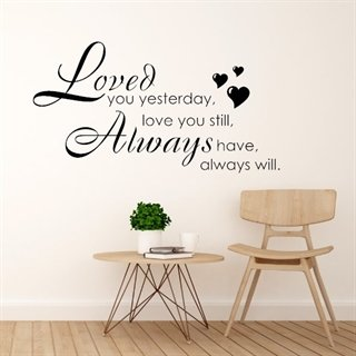 Wallstickers - Loved you yesterday