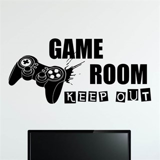 Game Room Keep Out Controller - Wallstickers