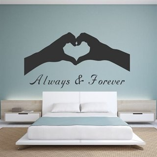 Wallstickers med text Always & forever