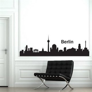 Mycket modern wallsticker av Berlins skyline