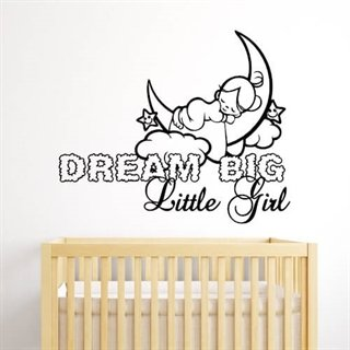 Wallstickers med text Dream Big