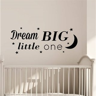 "Text ""Dream big little one"""