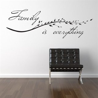Wallstickers text med Family is everything