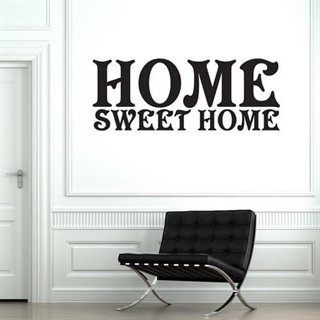 Wallstickers med text Sweet Home