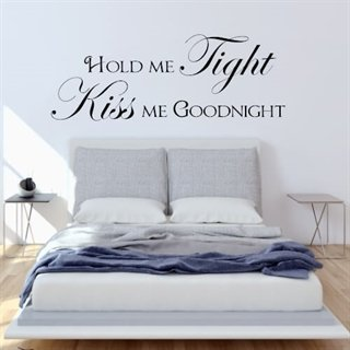 Wallstickers med text Hold me