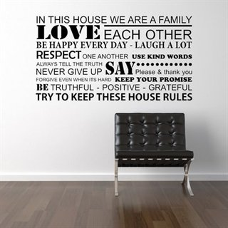 Wallstickers med texten - We are a family