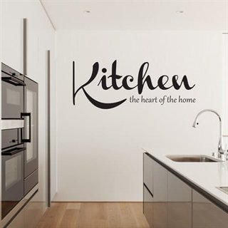 Wallsticker-text citat där det står Kitchen home