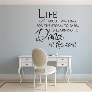 Wallstickers med text Life