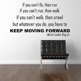 Wallstickers citat med texten. Keep moving forward