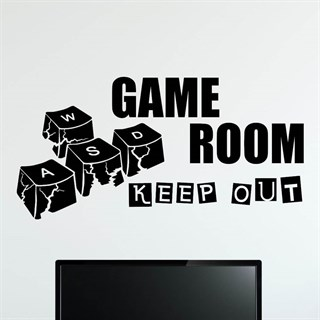 Game Room Keep Out - Wallstickers