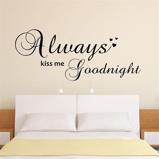 Always kiss - Wallstickers