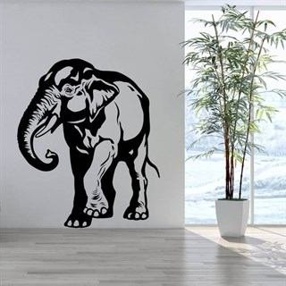 Asiatisk elefant- Wallstickers