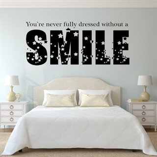 Wallstickers med texten Without a Smile