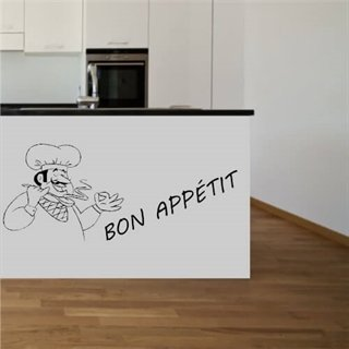 wallstickers med text bon appétit