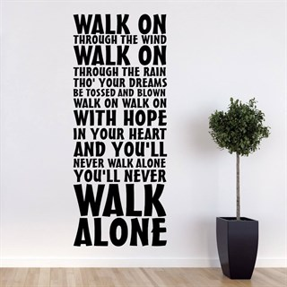 Wallsticker med Liverpools fotbollslags sång You'll never walk alone