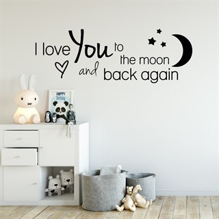 Wallsticker med texten I love you