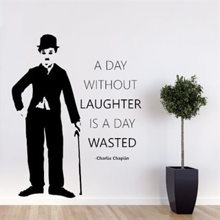 Wallstickers med text A Day Without Laughter