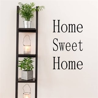 Wallstickers med texten Home Sweet Home
