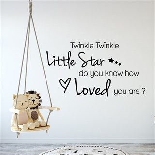 Wallstickers med texten Twinkle twinkle little Star