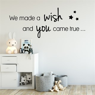Wallsticker med texten We Made a Wish