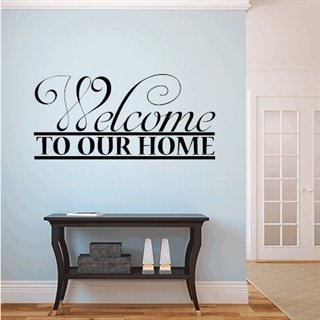 Wallstickers med text - Welcome to our Home