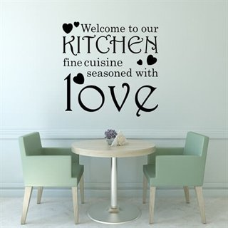 Wallstickers med texten Kitchen love