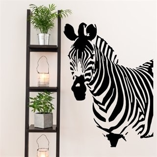 wallsticker med text zebra